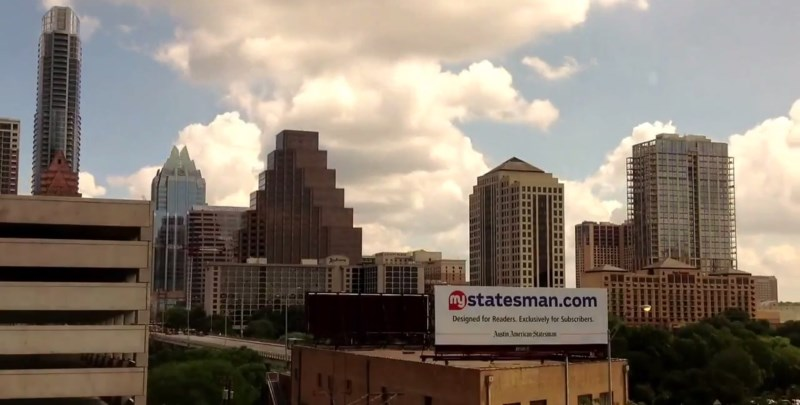Downtown Austin Texas time lapse HD screenshot