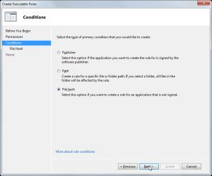 AppLocker Block Executable Rules