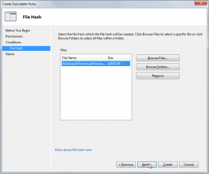 AppLocker -Create Executable Rules