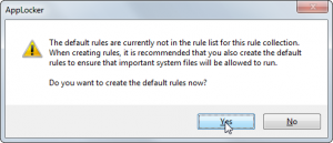 AppLocker - Create Default Ruleset