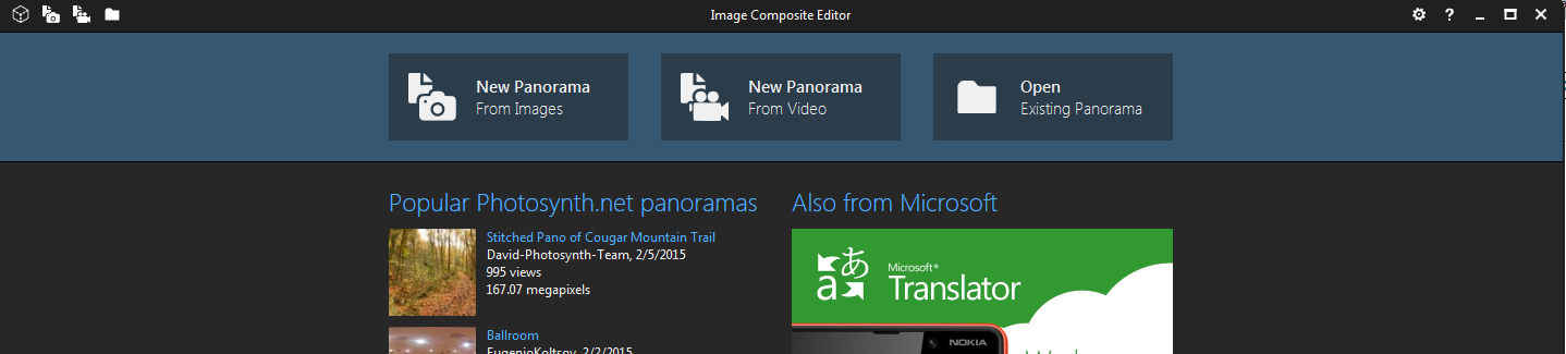 Image Composite Editor 64-Bit - Microsoft Research