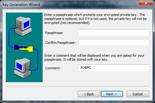 SecureCRT For passwordless auth do not specify a passphrase