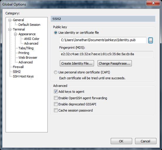 SecureCRT | Global Options | SSH2