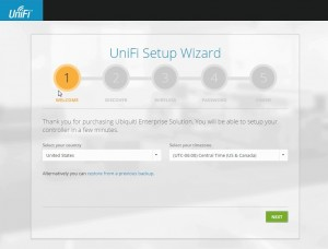 unifi 4.6.6 setup wizard