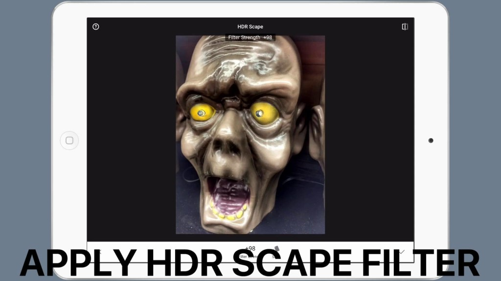 How to create a scary halloween face – Snapseed photo editing tutorial