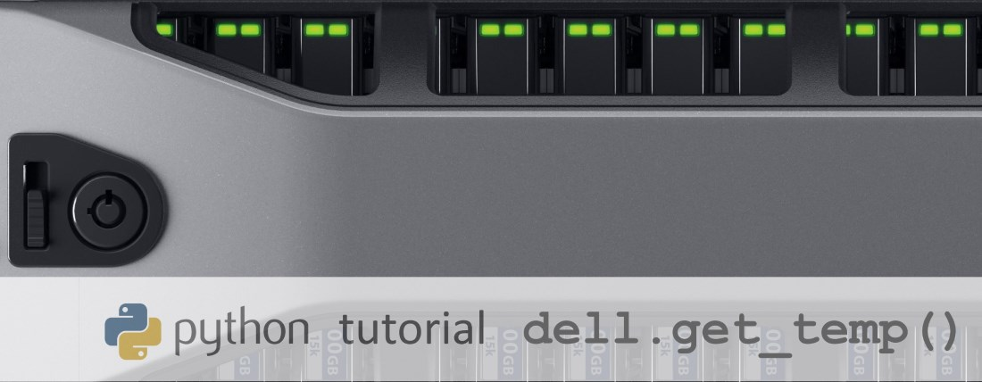 python Dell Server Get Temperature via SNMP