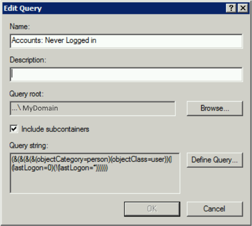 Never Logged In LDAP Query