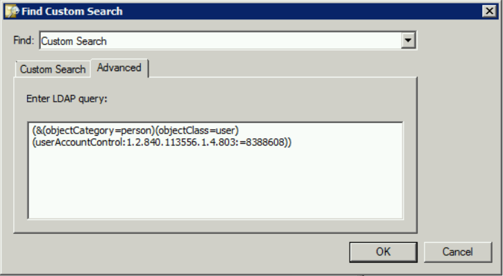 Custom LDAP Query Screenshot