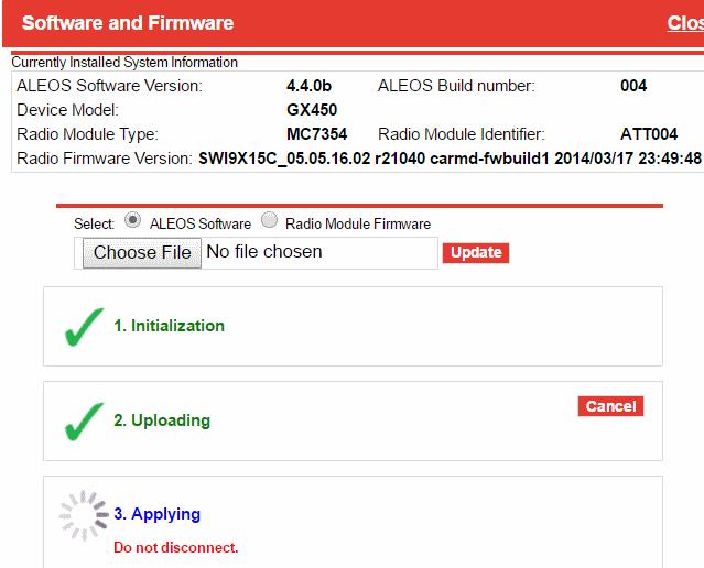 gx450 firmware upgrade progress