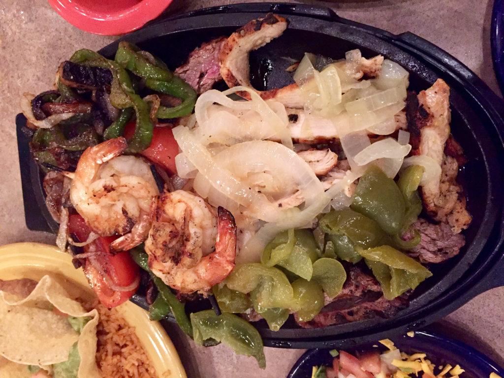 Beef, Chicken, Shrimp Fajitas