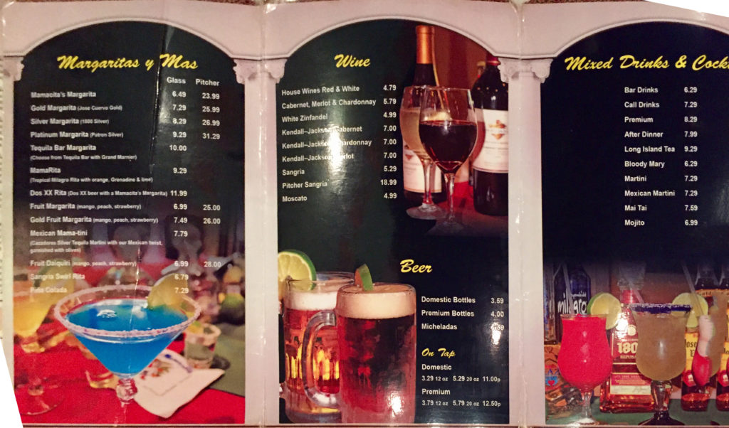 Cocktail Menu - Beers