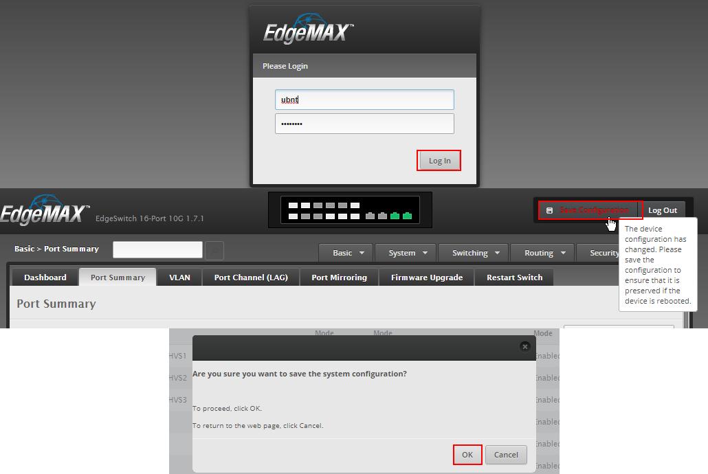 edgeswitch gui screenshot