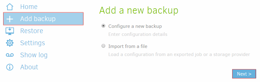 Duplicati-add-new-backup