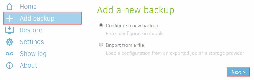 Duplicati-add-new-backup