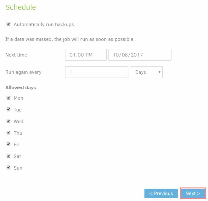 Duplicati-backup-schedule