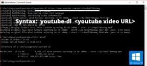 youtube-dl usage example windows