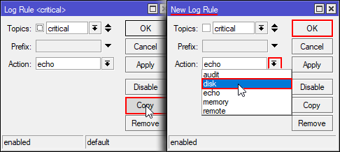 Mikrotik Tutorial: How to configure persistent logging - jcutrer com