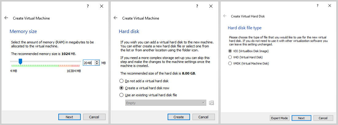 Virtual Machine Memory HDD