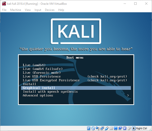 Install Kali Linux as a VirtualBox VM - jcutrer com