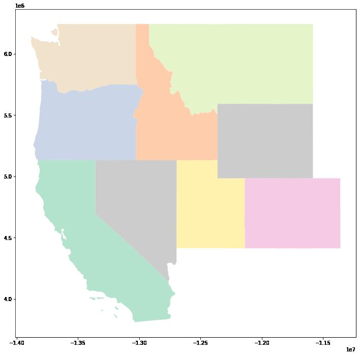 Plot of NorthEast United States