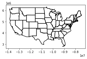 Small US Map plot with thick outline