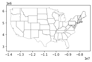 Small US Map plot with thin outline