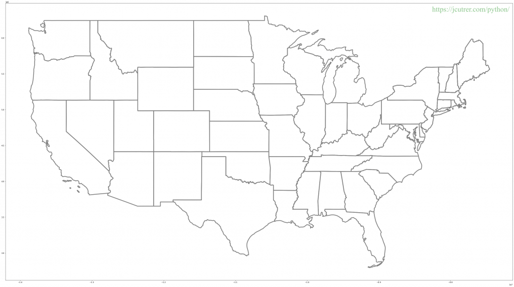 United States Map Black Outline