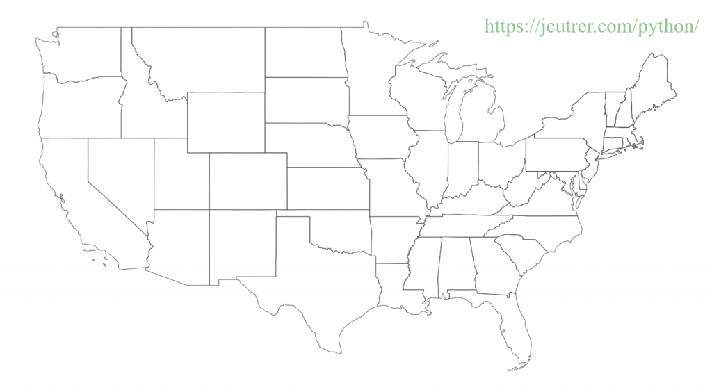 United States Map axis off