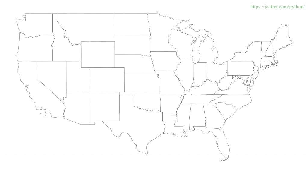High Resolution Map Plot of the United States created with GeoPandas