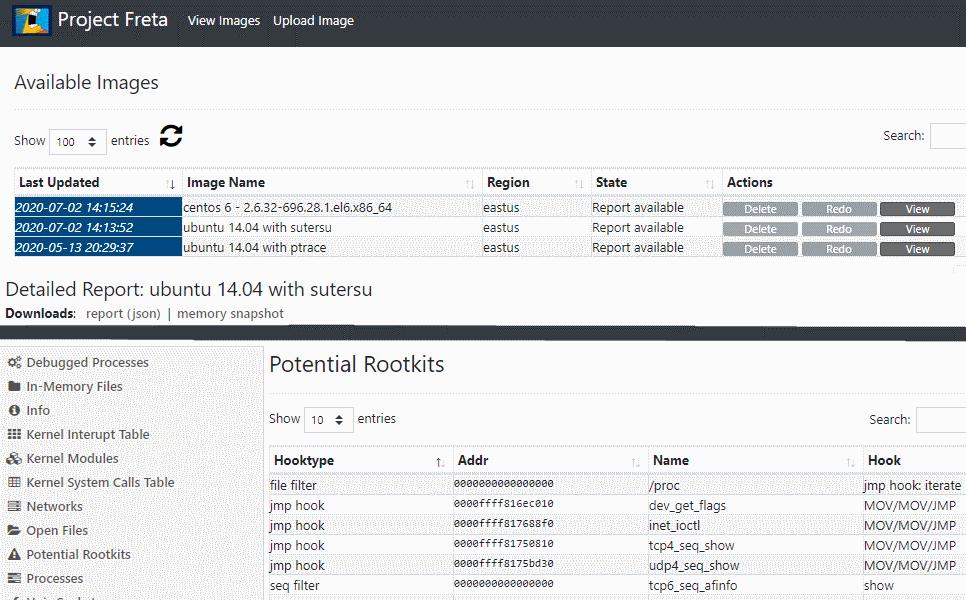 project freta portal screenshot